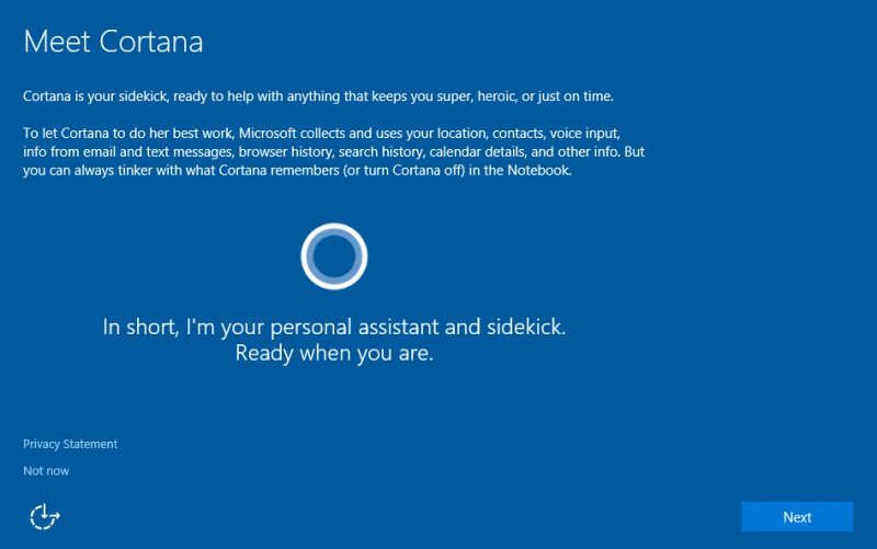 enable set up cortana quot ask me anything quot in windows 10