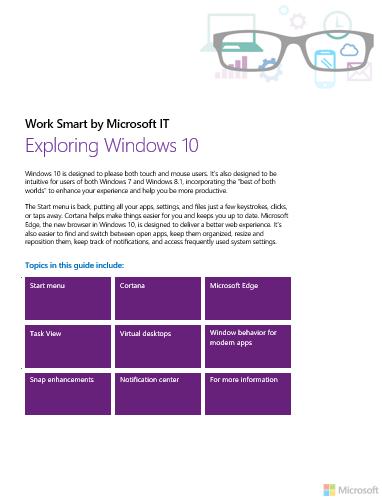 Exploring Windows 10 eBook