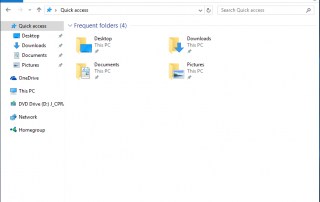 Quick Access View with No Recent Files