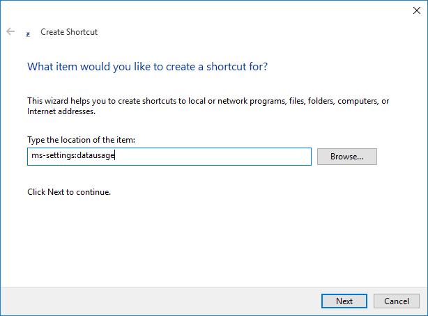Create Shortcut to Settings