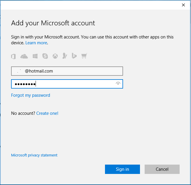 Connect Windows to Microsoft Account