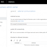 Turn On Enable Skype for Business (Lync) External Communications (Federation)