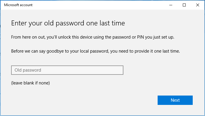 Connect Windows Local Account to Microsoft Account