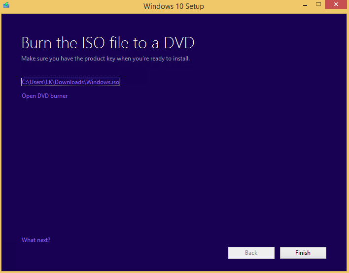 Windows 10 ISO Image