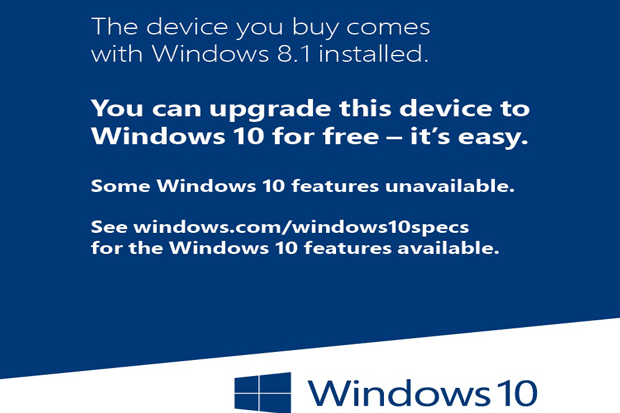 Windows 8.1 Devices Free Upgrade Sticker