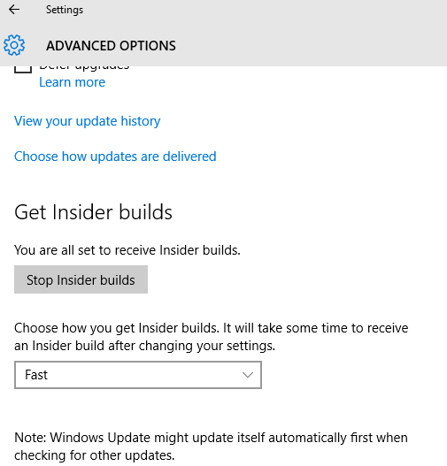 Windows Update Insider Builds Flight Status