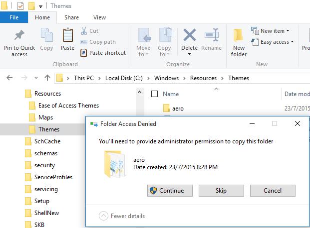 Backup Aero Folder