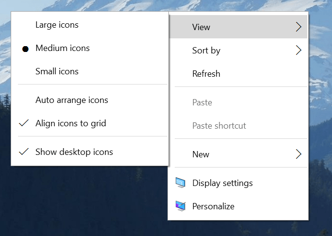 Modern Context Menu in Windows 10