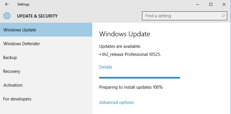 Windows 10 Build 10525