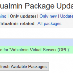 Virtualmin Package Updates Install Failed (No More Mirrors to Try)