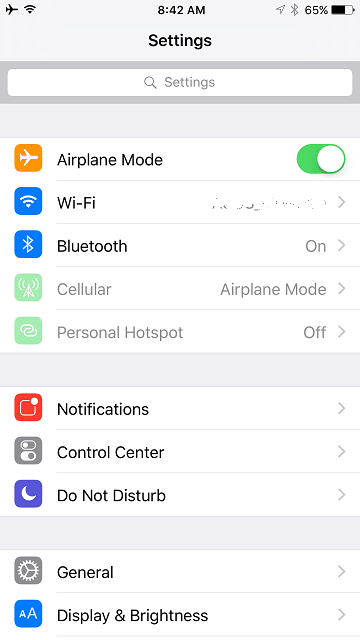 Disable Cellular Phone with Wi-Fi On in iPhone