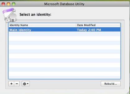 Rebuild Identity Database