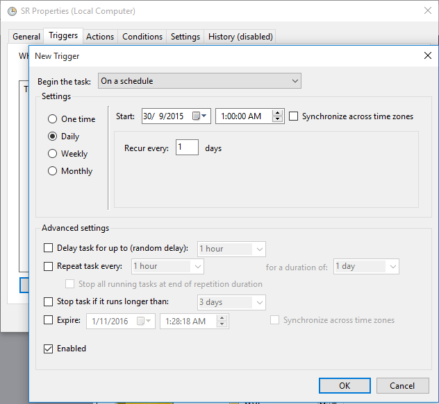 Trigger to Create Restore Points