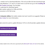Windows 10 November Update (v.1511 10586) ISO Download Links Removed (But Not MSDN)