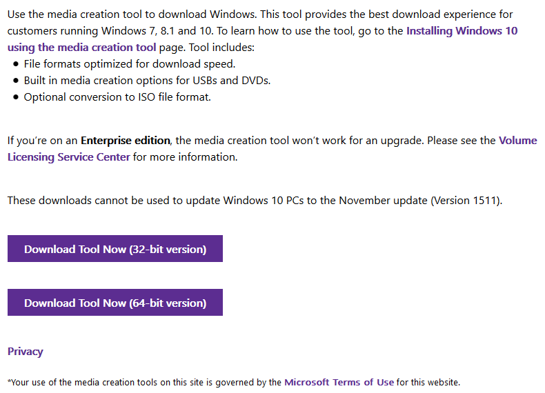 Windows 10 November Update (v 1511 10586) ISO Download Links Removed