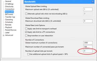 Disable Seeding in uTorrent