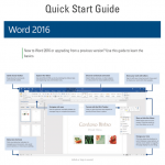 Microsoft Office 2016 (Word, Excel, PowerPoint, Outlook, OneNote) Quick Start Guides
