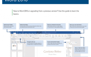 Office Word 2016 Quick Start Guide