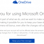 Grandfather & Get OneDrive 30GB (15GB Base) Free Cloud Storage Space