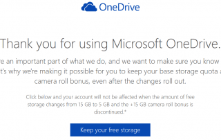 Grandfathered OneDrive 30GB Free Cloud Storage