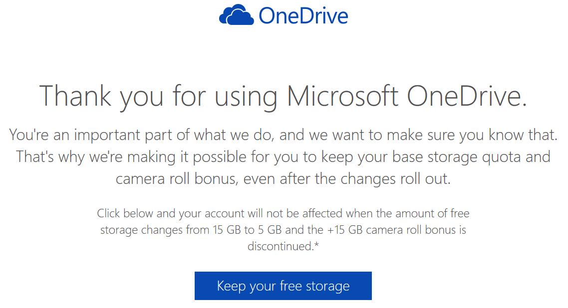 Grandfathered OneDrive 30GB Free Cloud Storage