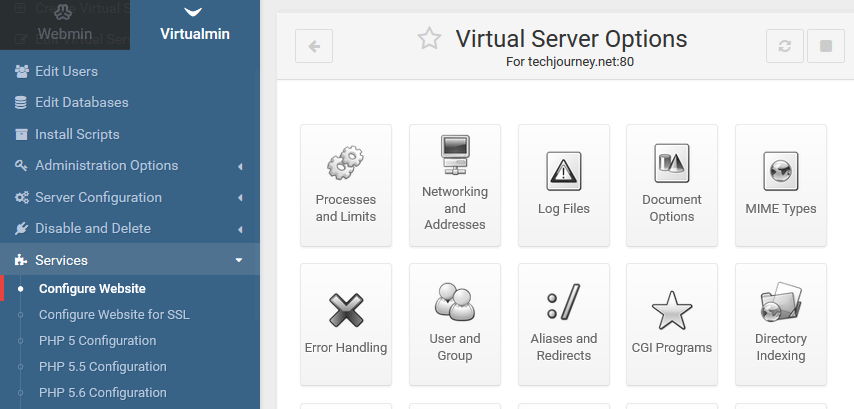 Virtual Server Options
