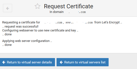 Successfully Request and Install Let's Encrypt SSL Certificate