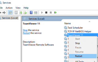 Restart TeamViewer Service