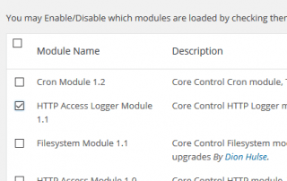 Enable HTTP Access Logger Module