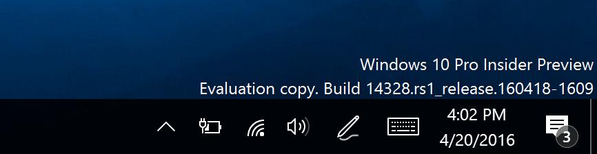 Action Center Icon in Windows 10 Anniversary Update