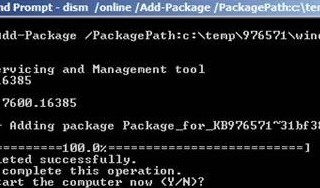 Install CAB with DISM