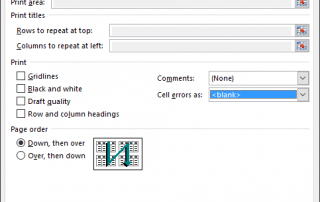 Hide Cell Errors When Print Excel Spreadsheet