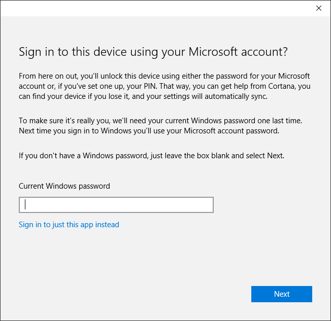 MSA Sign In Just Windows Insider Only