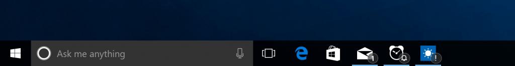 Windows 10 Taskbar Badging