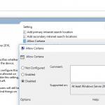 Disable & Turn Off Cortana in Windows 10