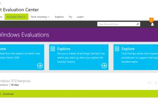 Windows 10 Enterprise TechNet Evaluation Download