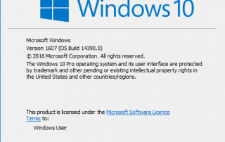 Windows 10 Build 14390