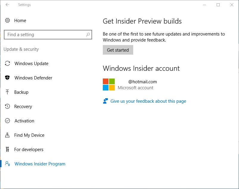 Get Started on Windows Insider Program