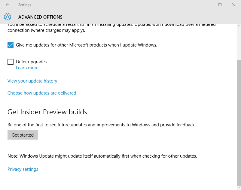 Get Windows Insider Preview Builds