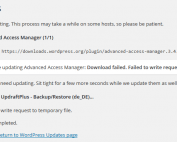 WordPress Failed to Write Request To Temporary File
