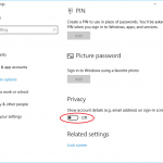 Hide or Show Email Address of Microsoft Account on Windows 10 Sign in Lock Screen