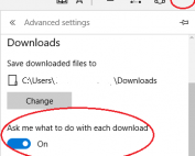 Enable Save Prompt in Edge