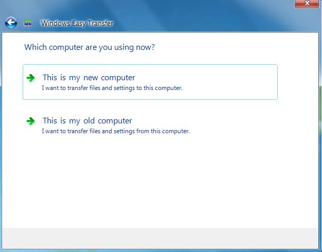 Windows Easy Transfer in Windows 10