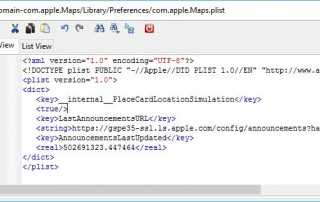 Edit Maps Plist