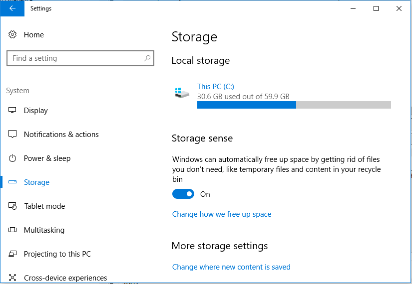 Automatic Disk Cleanup & Empty Recycle Bin to Free Up Space in Windows 10 (Enable Storage Sense)