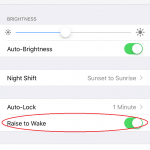 Enable or Disable Raise to Wake (Auto Screen Turns On) in iPhone & iPad (iOS)