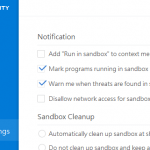 Remove Run in 360 Sandbox from Right Click Context Menu