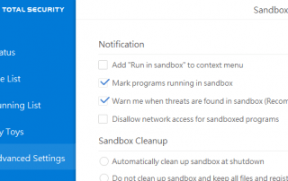 Remove Run in 360 Sandbox Context Menu