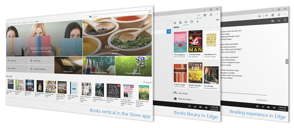 eBooks in Windows 10