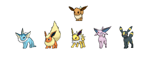 Eevee Evolution Names and Friendship / Time of Day Trick